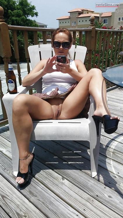 Mature bent over beach pussy