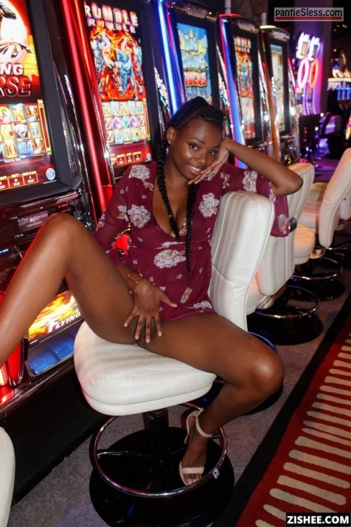 pussy flash public flashing ebony bottomless  Ebony hottie flashing black pussy at casino